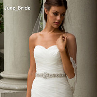 Wholesale Bridal Sash Rhinestone Applique Crystal Pearl Rhinestone Belt Trim Bride Party Tie Backs New Style Real Photo for Wedding Occassion Dress