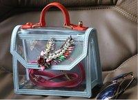 abs spring - 2016 Paris fashion brand tide brand SHOUROUK spring and summer series of limited edition Crystal transparent portable shoulder bag
