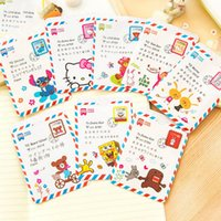 Wholesale Cartoon card bag open CM Envelope post stamp styke business card credit card case cover Japanese style School Supply cartoon pouch