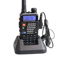 Wholesale BaoFeng UV RE Ham Two Way Radio MHz Dual Band Transceiver Black Walkie Talkies Fast Ship From US