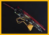 authentic sword - COLLECTION SWORD for decorate Full Tang Authentic Handmade Damascus Steel Black Folded Steel Japanese Samurai Katana Ninja Sword Fish