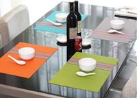Wholesale Placemat Table Mat Dining Mat Textilene PVC Insulation Anti Slip Pad Antibacterial Flame Retardant cm Reusable