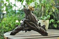 Wholesale Vintage Cast Iron Wall Mounted Hose Holder Frog Hose Hanger Rustic Yard Garden Decor Metal Outdoor Supplies Fast