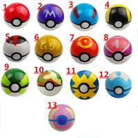 Wholesale Free DHL Shipping Ball Figures ABS Anime Action Figures PokeBall Toys Super Master Ball Toys Pokeball Juguetes CM styles