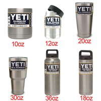 Wholesale YETI oz oz oz oz oz YETI Cups oz oz beer Mug Bottle Colster Rambler Tumbler Stainless Steel by DHL