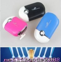 Wholesale 2017 New Arrival Mini portable USB Rechargeable Hand Held Halterneck Desk Air Conditioner Fan MYY