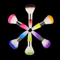 Wholesale Nail Art Dust Powder Brushes Flocking Remover Cleaner Concealer Foundation Makeup Cosmetic Brushes Manicure Pedicure Tool