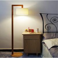american wood floors - Classic Chinese Wood Floor Lamp Modern Minimalist Living Room Bedroom Led American Country Floor Lamps Retro Pastoral Style