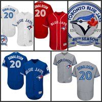 Wholesale Men s th Toronto Blue Jays Josh Donaldson White Red Grey Blue Authentic MLB Cool Base Collection Baseball Jersey