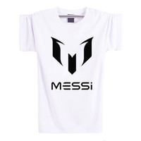 barcelona t shirts - Summer Brand Cotton Barcelona MESSI Soccer Tops Mens Casual Sport Short Sleeve Tees Football t shirts Men t shirt Plus Size