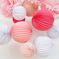 Wholesale Big cm Accordion Pleated Paper Lanterns Watermelon Lantern Wedding Party Birthday Showers Home Event Decor