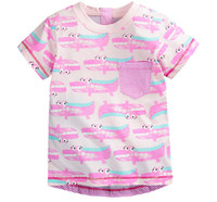 baby boy designer shirt - DHL Y Children s T shirt boys t shirt Baby Clothing Little boy Summer shirt Tees Designer Cotton Cartoon Dinosaur brand