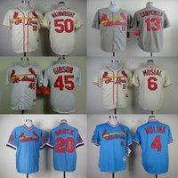 Wholesale Yadier Molina Stan Musial Matt Carpenter Bob Gibson Lou Brock Adam Wainwright St Louis Cardinals Jersey size extra small XS s xl