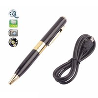 avi cables - Spy Pen Camera Camcorder Mini DVR fps AVI HD Hidden Cam Video Support TF Card Slot Black Color with USB Cable