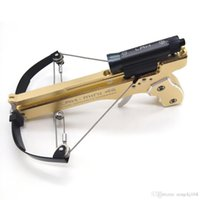 aluminum campers - 2 GEN Handheld Full CNC Machining IN1 Mini Crossbow With Hard Anodized Aluminum Slingshot Model Archery self defense Camper survive