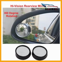 auto blind spot mirrors - 1Pair Car Wide Angle Blind Spot Mirror RearView Mirror Small Round Mirror Auto Side Wide Angle Round Convex Mirror