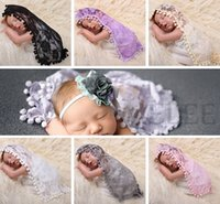 Girl bath towel rings - INS New Baby Shower Lace Swaddles Newborn Blankets Baby Tassel Wraps Photography Props Bedding Bath Towels Parisarc Robes Quilt Hammock