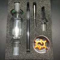 Wholesale DHL Free Nectar Collector Kit mm Joint Honey Straw Concentrate Glass Pipe with Titanium Nail Quartz Nail and Glass Dish