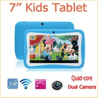 Wholesale Cheap Kids Touch Screen Tablets - Cheap 7 Inch Quad Core Kids Children Tablet PC RK3126 ROM 8GB RAM 512MB With Educational & GAME APP 20pcs Free DHL
