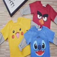 animations t shirts - Boys Kids Clothing Clothes Cotton Cotton Animation Spring Autumn Long Sleeve T Shirt Kids Outfits Fashion Children Clothing Colors