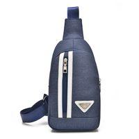 Wholesale Nylon Single Shoulder Bag Sling Pack Hiking Traveling Retro Unbalanced Chest Messenger Bag For Men and Women