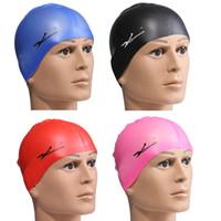 Wholesale Multi Color Quality Silicone rubber Children swimming cap Adult men women waterproof swim caps hat