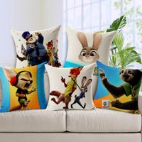Wholesale Zootopia Cushion Cover Home Decor Bed Sofa Throw Pillow Case x45 cm