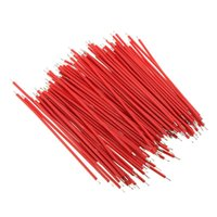 Wholesale Brand New Breadboard Jumper Cable Wires Tinned mm cm Red