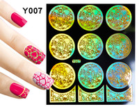 Wholesale New Design Hollow Nail Stickers Fashion Flower Repeated Use Guide Nail Polish Stickers Decals French Stickers Tips Nail Art
