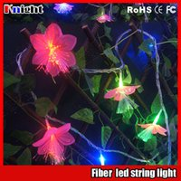 Wholesale 2016 new arrival m lamps fiber led string light for Garden m Optical Fiber Light of Planter pergola decor led flower light