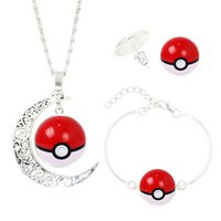 Wholesale new hot toy time gem necklace set Picacho glass earrings bracelet Jewelry Set dhl