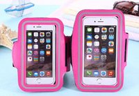 adjust screen - iphone7plus4 to inch mobile phones with general arm set of double buckle adjust the touch screen running armband
