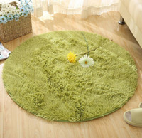Wholesale Size Plush Shaggy Soft Round Carpet Non Slip Water absorption Floor Rug Yoga Mat For Bedroom Parlor Living Room