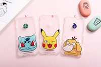 Leather apple fish - Shockproof Transparent Poke Pikachu Soft TPU Case For Iphone S Plus I6 I6S Fish Cat Pocket Cartoon Crystal Clear Phone Cover Skin