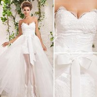 article reference - Article bridal gowns new before long after tulle wedding wedding dress removable train custom size