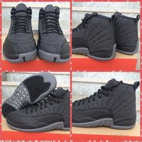 Wholesale With Box High Quality Retro Wool Grey Men Basketball Shoes Brand XII s Flu Game The Master Playoff TAXI Sport Sneakers