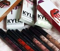 Wholesale 8 Colors In Stock Kylie Lip Kit By Kylie Jenner Kylie Lipsticks Kylie Jenner LipKit in EXPOSED Lip Swatches Mix Order Accepted