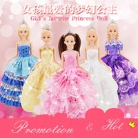 big beautiful dolls - 1pc Cute Beautiful Doll Toy Moveable Joint Body Fashion Toys High Quality Girls Plastic Classic Best Gift Figure brinquedo cm