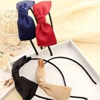 big bow headbands for women - Hot Sale New Fashion Big Bows Girls Headband with Grosgrain Ribbon Headwear for Women Hair Accessories