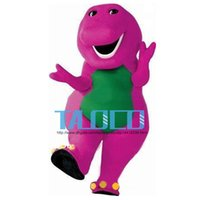 barneys shipping - Best Barney Dinosaur Mascot Costume Cartoon Party Dress Adult