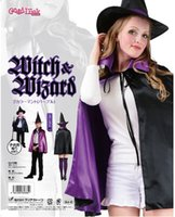 Wholesale 2016 Little Witch Mascot Costumes Baby Kids Girl Halloween Witch Hat Cape Skirts Sets Boutique Clothes Performance Stage Wear MC0353