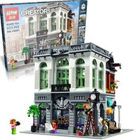 bank classic - 2413pcs New LEPIN CREATOR series the Brick Bank model building blocks Child Classic Toys mini figures compatible with legoed