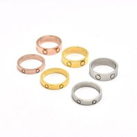 Wholesale JB Man Woman Fashion Accessories Ring Luxury Rose gold Screw Ring Metal Bridal Ring for whole sale