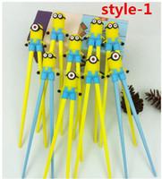 Wholesale Children Chopsticks Gift Cartoon Style Kids Children Learning Training Chopsticks exercise Early Education Beginner Training