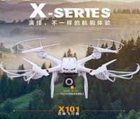 Wholesale Professional drones MJX X101 cm BIG rc Quadcopter Drone GHz Axis gyro Dron can add fpv camera vs MJX X600 Tarantula X6