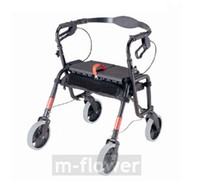 aluminium folding trolley - YC8600 With Bag Wheel Seat Folding Titanium aluminium Alloy Multipurpose Mobility Aids Travel Shopping Cart Trolley Walker Walking Aid