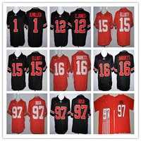 Wholesale College Ohio State Buckeyes Jerseys Football Braxton Miller Cardale Jones Ezekiel Elliott J T Barrett Joey Bosa Black Red