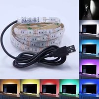 Wholesale 1M waterproof V RGB Led Strip mini controller USB cable to power bank PC TV