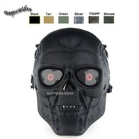 Wholesale Desert Corps Mask Outdoor Sports Equipment Face Protection Gear Shooting Full Face Tactical Airsoft Terminator Mask