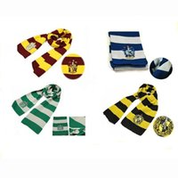 Wholesale Harry Potter Cosplay Scarf Gryffindor School Unisex Knitted Striped Scarf Gryffindor Scarve Harry Potter Hufflepuff Scarf